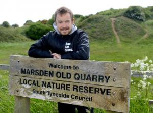 Luke at Marsden Quarry